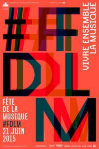Affiche dela f^te de la musique 2015 à Jussey